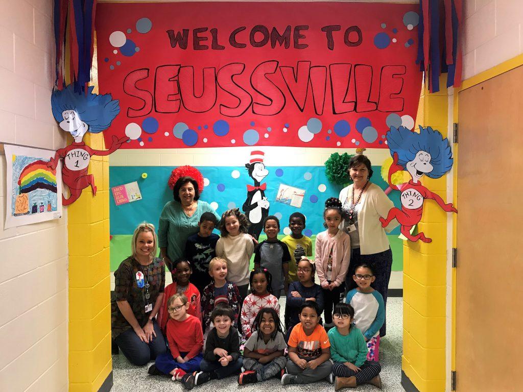 Kempsville Meadows Elementary School kindergartners enjoyed Seussville.