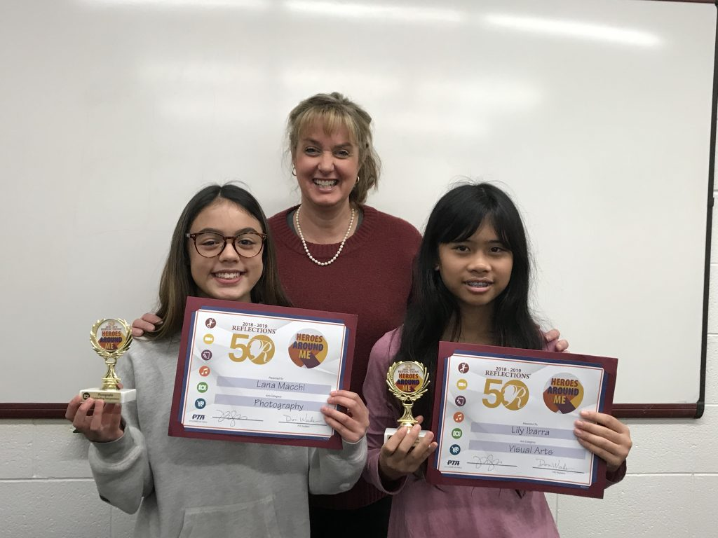 Kempsville Middle School awarded its PTA Reflections Contest winners.
