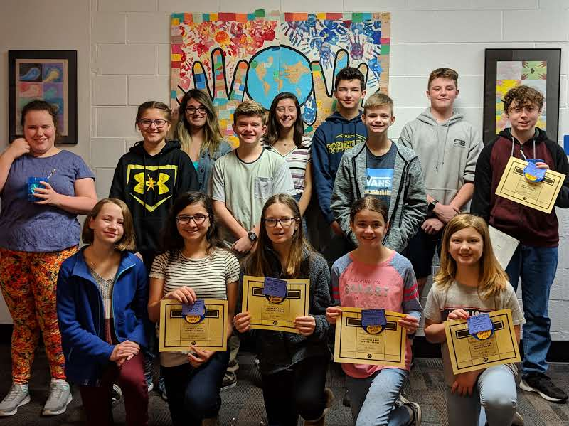 Princess Anne Middle School awarded their January Students of the Month.