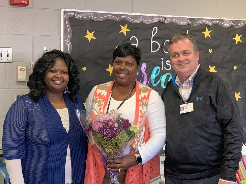 Melanie Lucy is Providence Elementary School's Teacher Assistant of the Year.