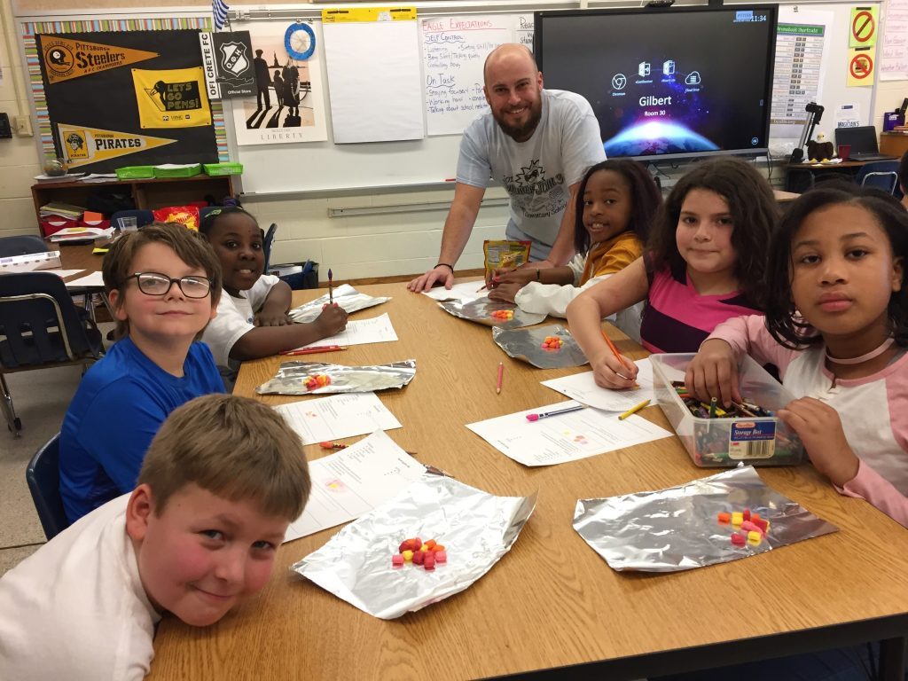 Rosemont Elementary School fourth-graders got creative with candy during Rock Cycle Lab.