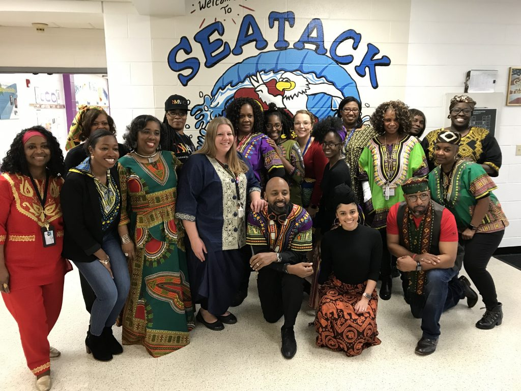 Seatack Elementary An Achievable Dream Academy faculty and staff celebrated Black History Month.