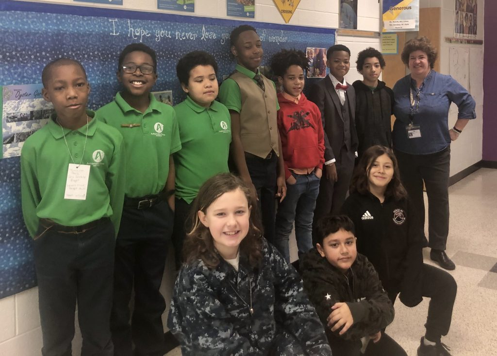 The Garden Breakfast Club at Seatack Elementary An Achievable Dream Academy showed their career dreams with Read Across America Dress for Success Day.