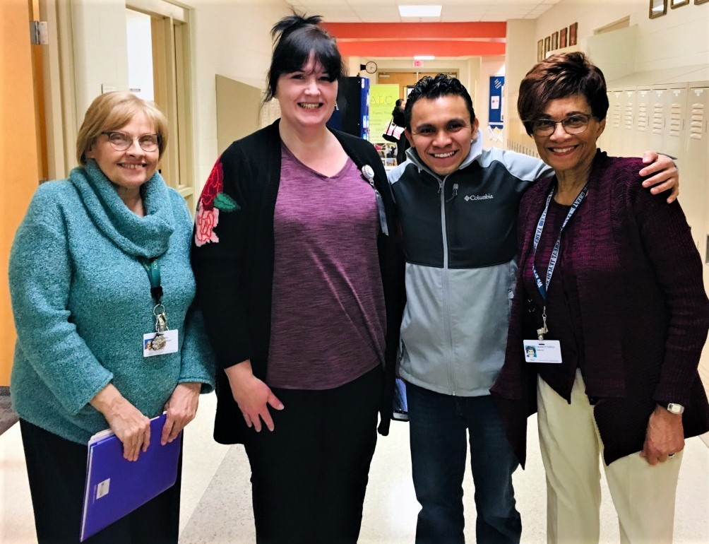 Jose Cedillo passed his final GED® test at the Adult Learning Center. Jose started with the ESOL program nine years ago to learn English. He spoke none at the time as he and his family had just entered the U.S. from Honduras.