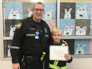 Byron Dillman is one of John B Dey's Safety Patrols of the Month