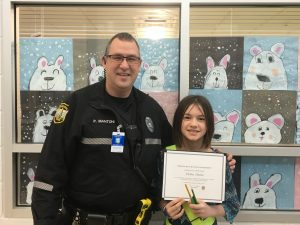 Fiona Paine is one of John B Dey's Safety Patrols of the Month.