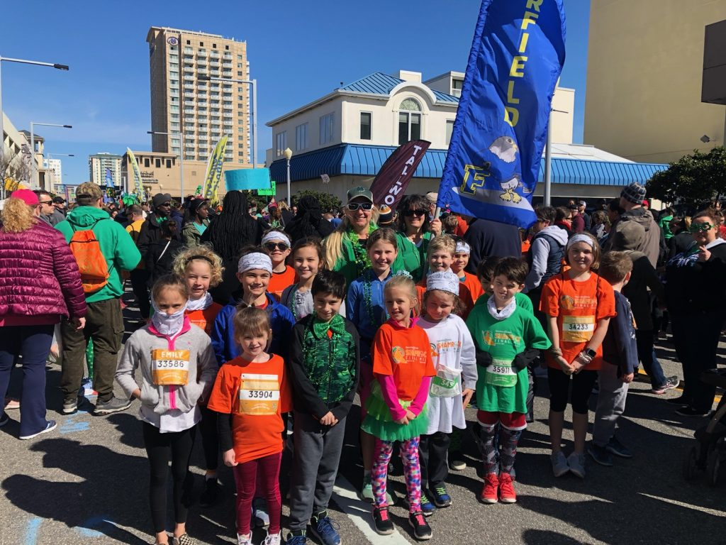 Fairfield Elementary had a blast being part of the Shamrock Final Mile.