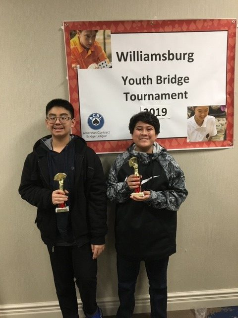 Landstown Middle School would like to congratulate 7th grade Bridge Club members, Zachary Fok and Jacob Yurasko, for placing in the American Contract Bridge League Tournament in Williamsburg.