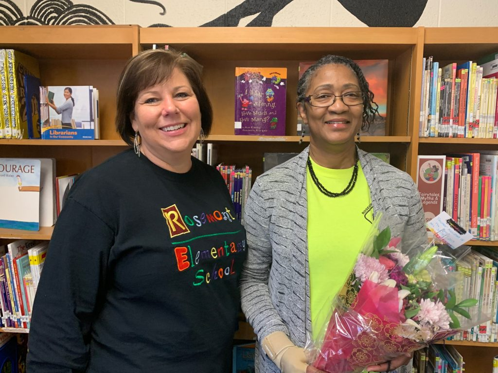 Oranee Sailes, was named Rosemont Elementary School's Teacher Assistant of the Year.