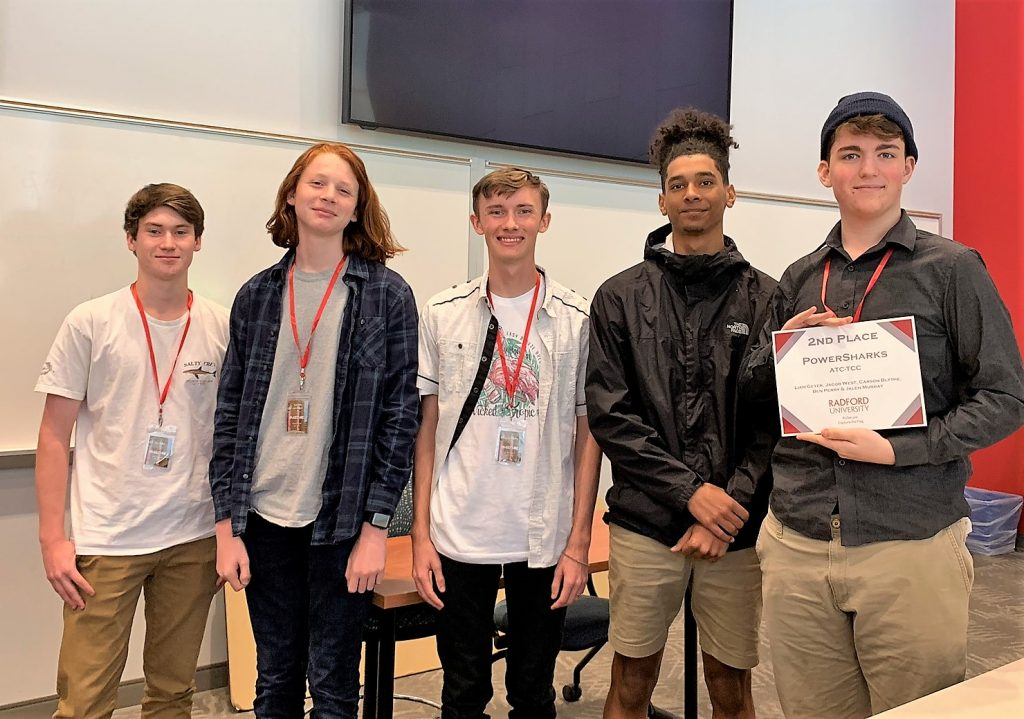 Radford University sponsored a Cyber hacking competition nationwide called RUSecure, a Capture the Flag(CTF) event. The ATC team of Power Sharks, dual-enrolled students with Tidewater Community College placed 2nd overall. Each team member was offered a $1,500.00 scholarship to attend Radford University.