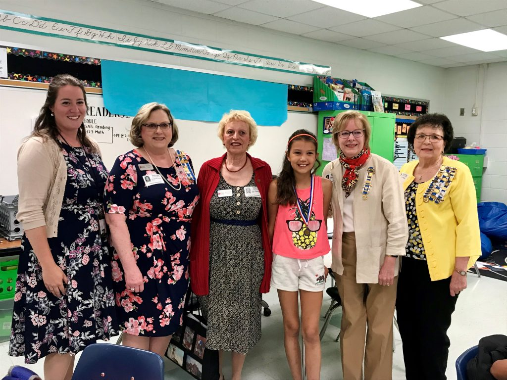 Madison Velasco, fifth grade student at Alanton Elementary School, was awarded the National First Place for Creative Expression Poem Fifth Grade by the Daughters of the American Revolution Junior American Citizens Committee representing the Princess Anne County Chapter