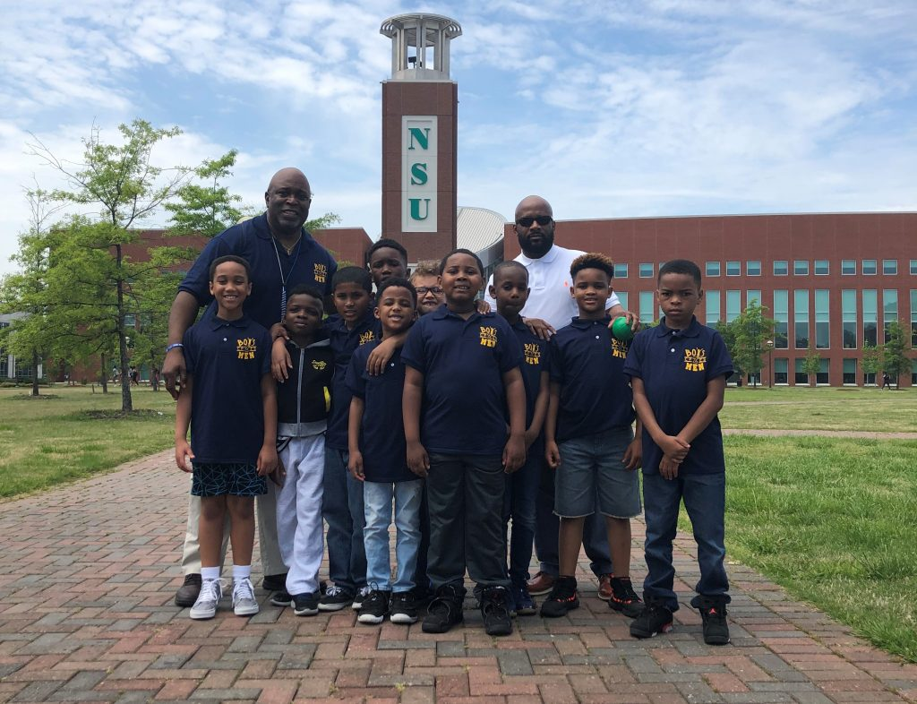 Second grade students from College Park Elementary tour Norfolk State University as part of their goal setting and life development discussions.