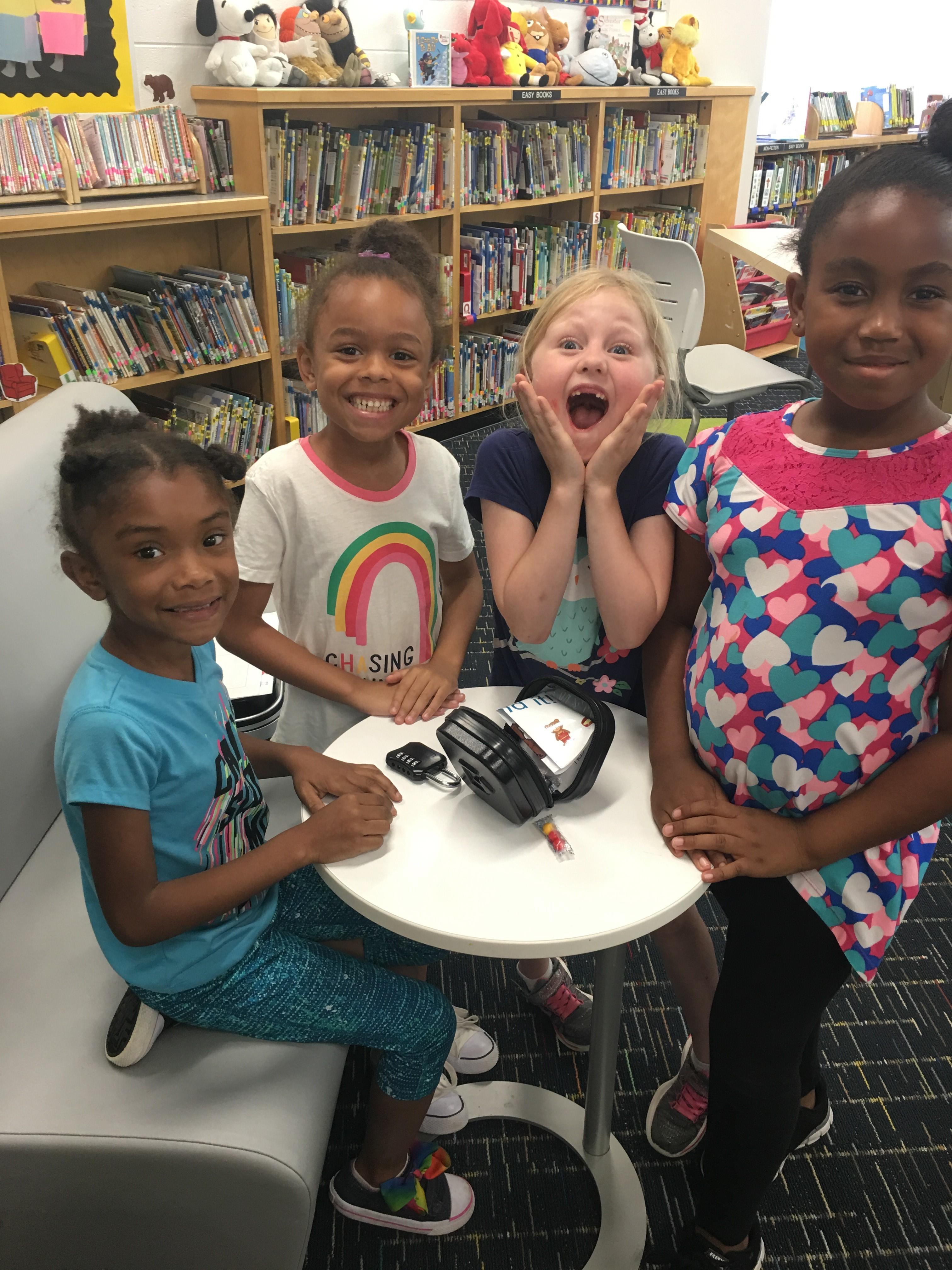 Kaylena Merritt, Na'Riya Kelly, Grace Fisher and Jordan Craddock are first graders at Corporate Landing Elementary School.