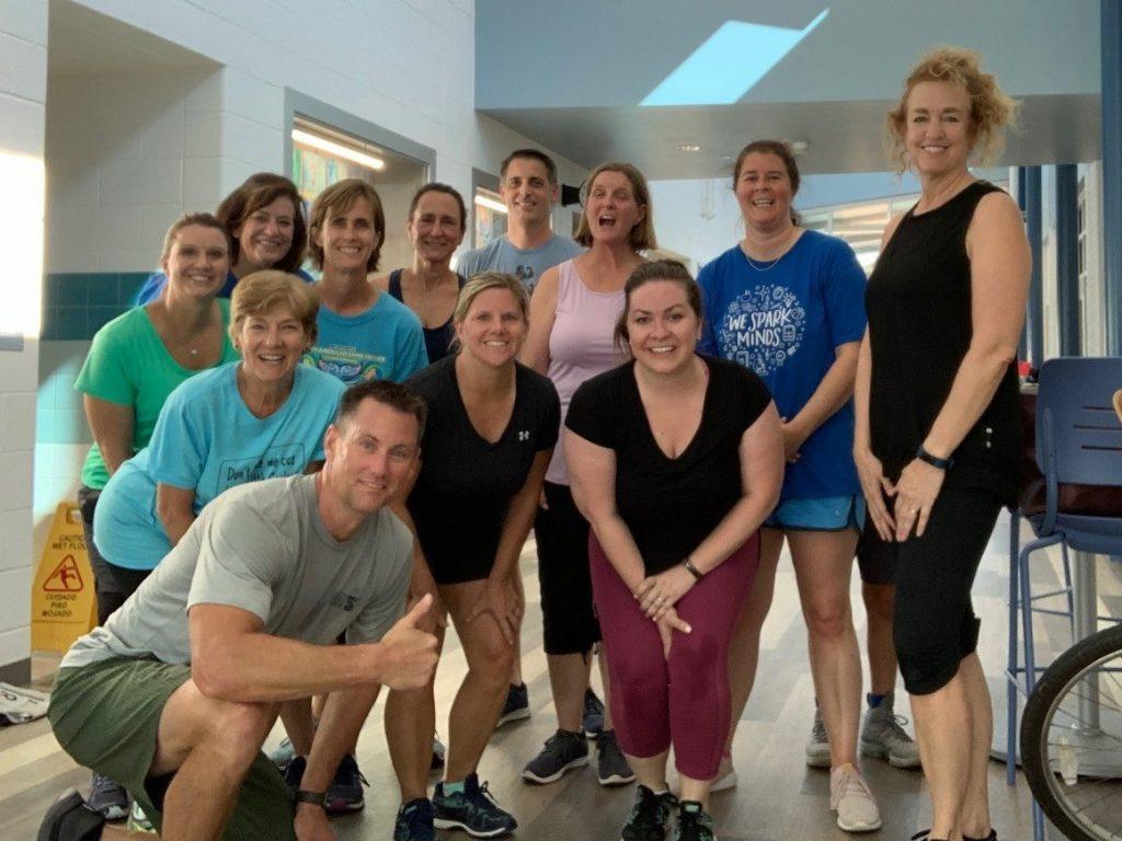 Dey Elementary School PE teacher Scott Kamholtz started a weekly Wednesday workout for the teachers after school.