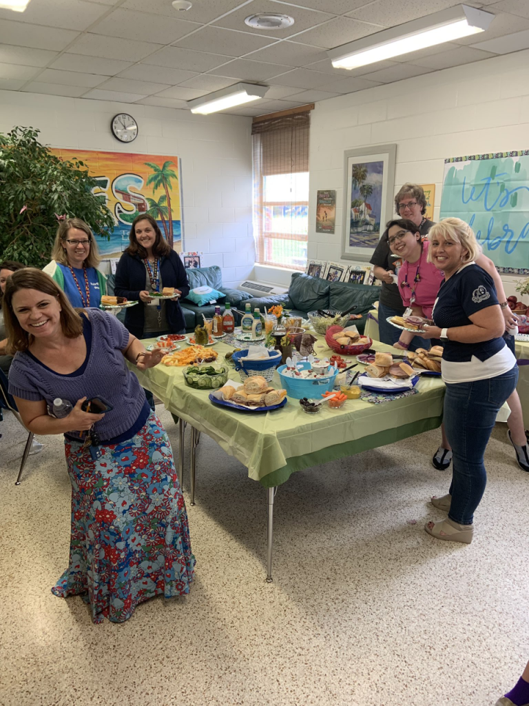 Fairfield Elementary School's PTA Luncheon was the icing on the cake. during Teacher Appreciation Week.