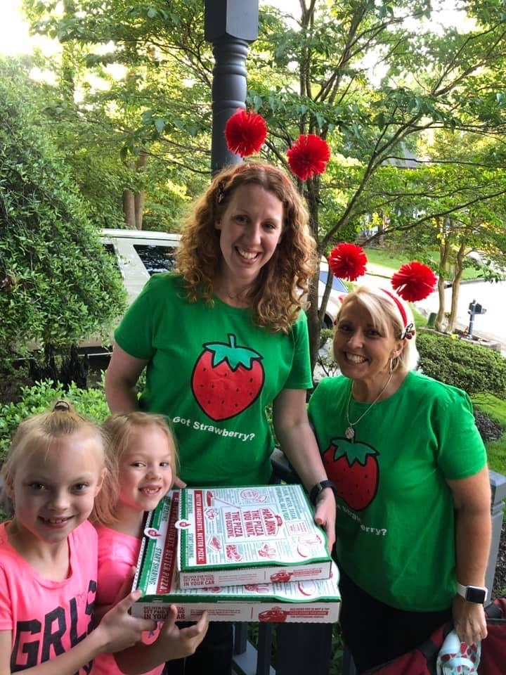 Fairfield Elementary school teachers dressed up and delivered pizzas to students, for a Papa John's fundraiser. Over 150 pizzas were delivered throughout the evening. The money raised will help purchase more flexible seating for the classroom.