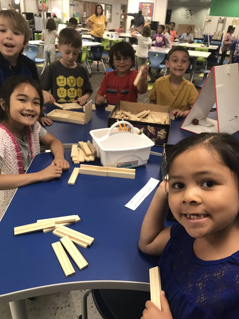 Glenwood Elementary School first graders had fun exploring Maker Space in the Library Learning Commons with Blue Bot, Dash Bot, and Keva Planks, and iPads.