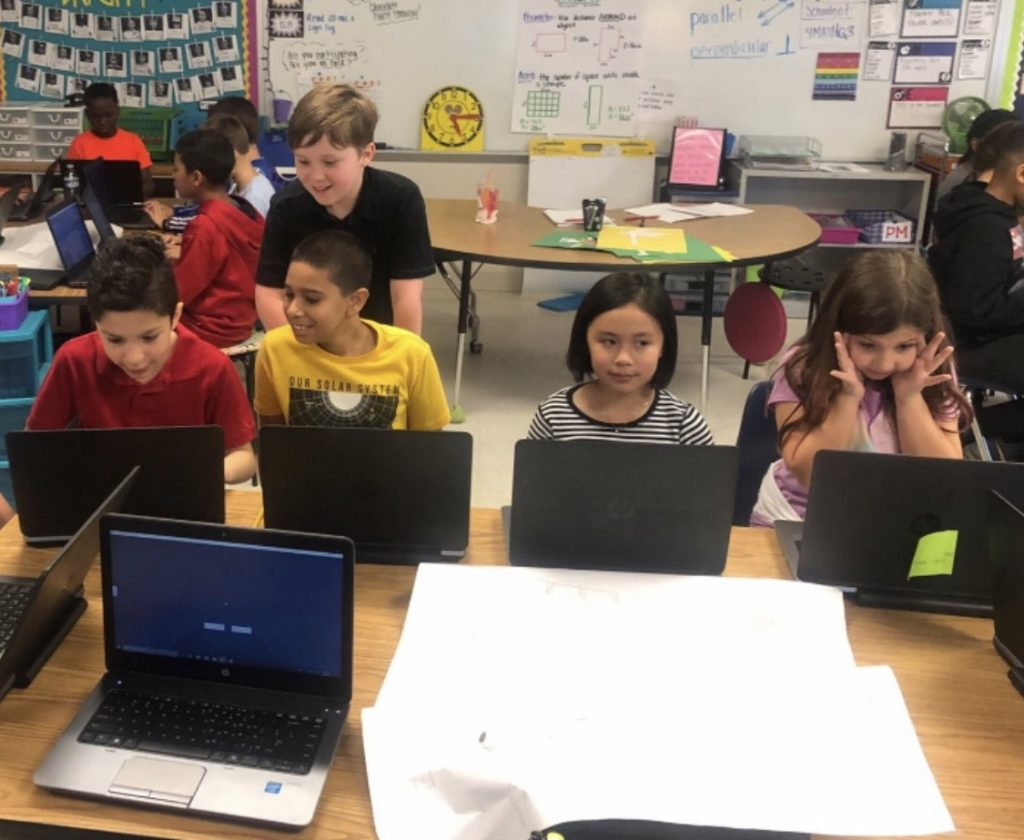 Linkhorn Elementary School fourth graders recreated Jamestown settlement in Minecraft EDU.