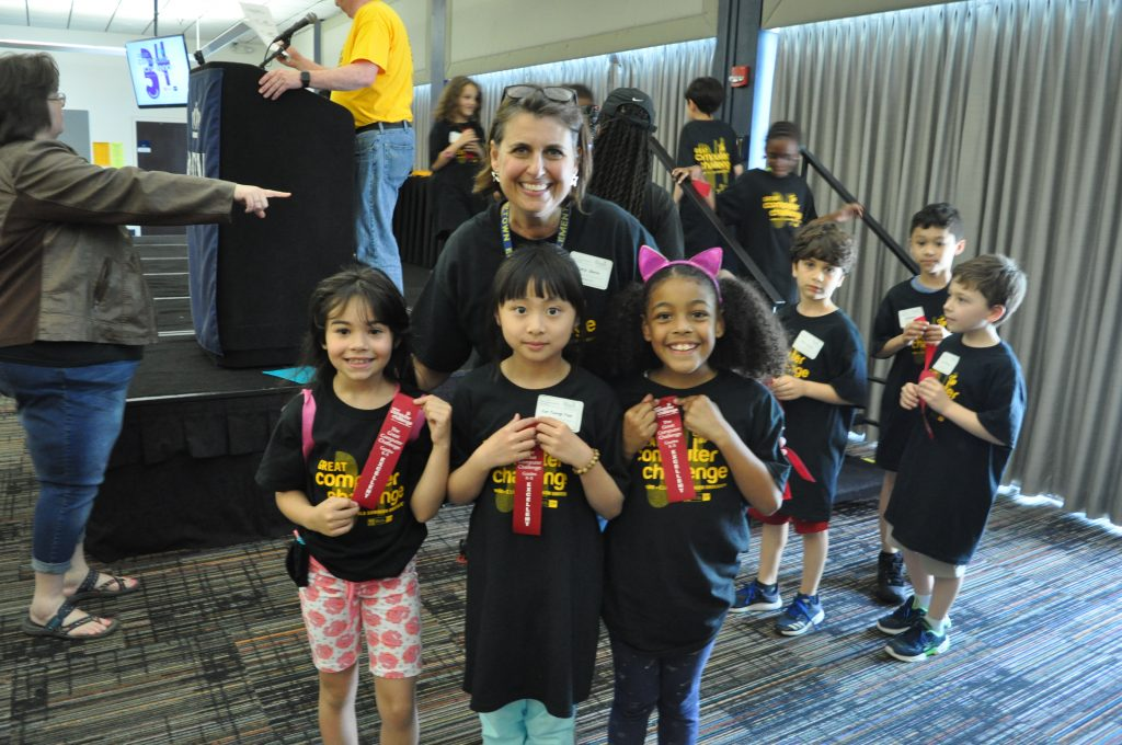 """Girls Who Code"""" from Newtown Elementary School received an Excellent in the Level I Catagory of Visual Coding at the 34th Annual WHRO Great"""