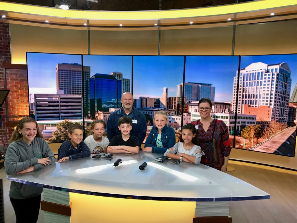 The Ocean Lakes Elementary School news crew visited WVEC in Norfolk for a tour.