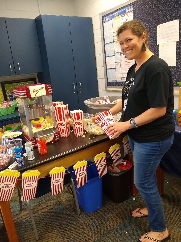 Princess Anne Elementary second grade teacher, Christina Kernutt, enjoyed the yummy festivities prepared by the school's PTA to honor teachers during Teacher Appreciation Week.
