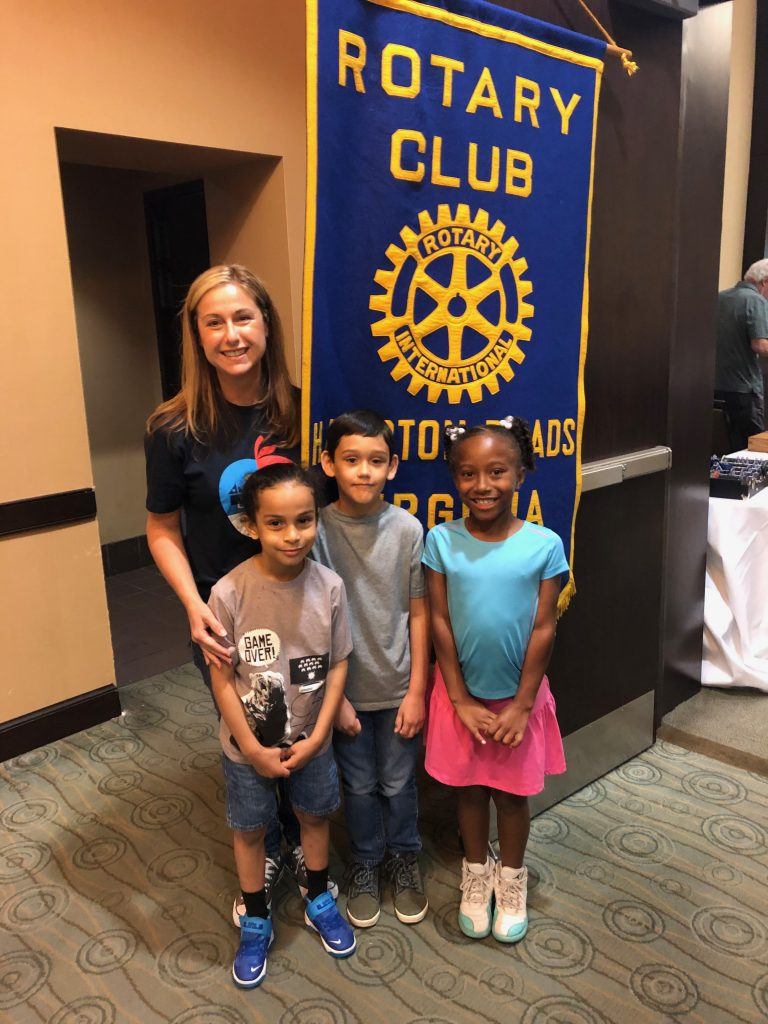 Rosemont Elementary second graders thanked the Rotary Readers by attending their monthly meeting and reading them poems. Andrea Balsly, Rosemont's reading specialist, accompanied them to the breakfast meeting at the Holiday Inn.