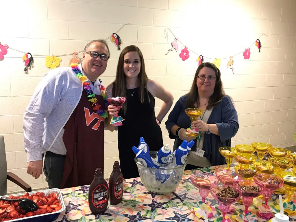VB Middle School's SAC and Office Manager served up sweet treats for teachers during Teacher Appreciation Week.
