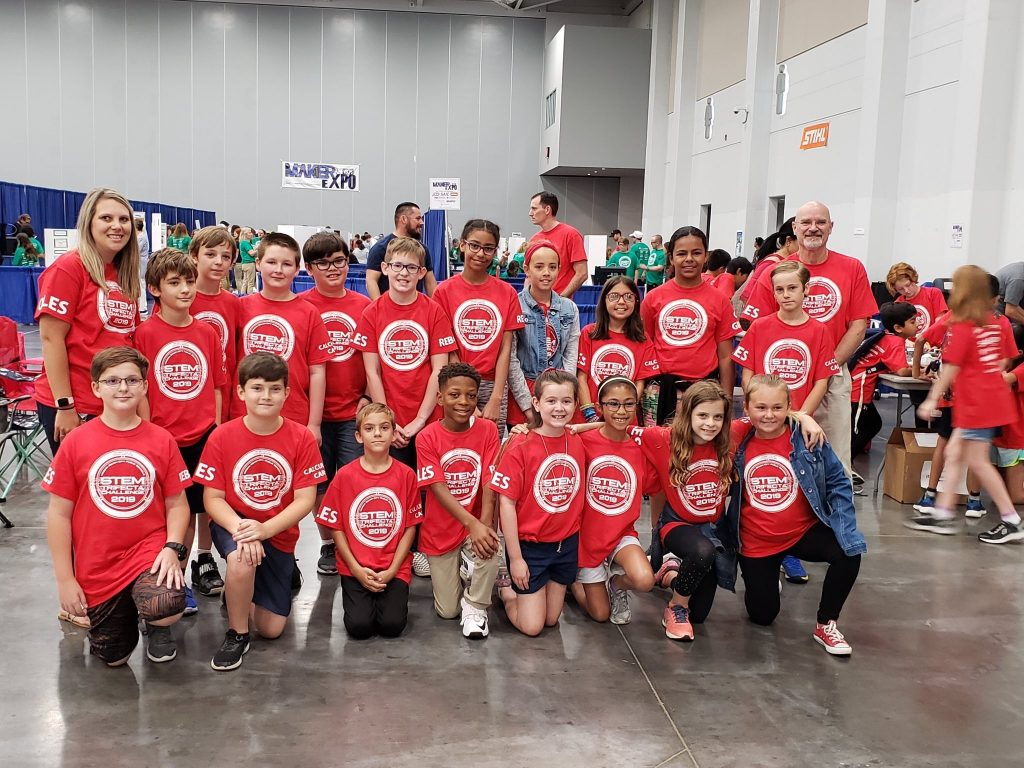 Students from Ocean Lakes ES competed at the STEM Trifecta Challenge.