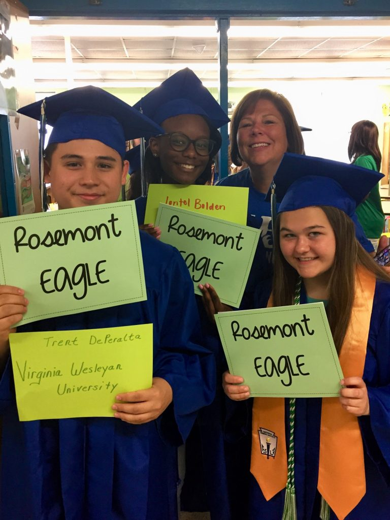"Green Run seniors came to Rosemont Elementary School and did their annual ""Grad Walk""."