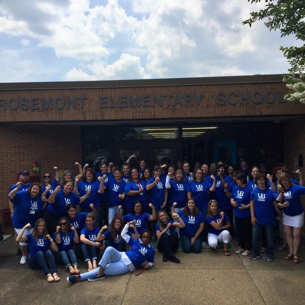 Rosemont Elementary School staff continued to stay VBStrong all week long.